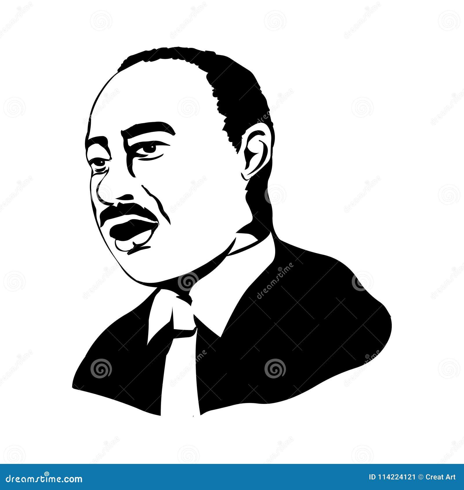 Martin Luther King Jr Retrato do vetor de Martin Luther King Jr