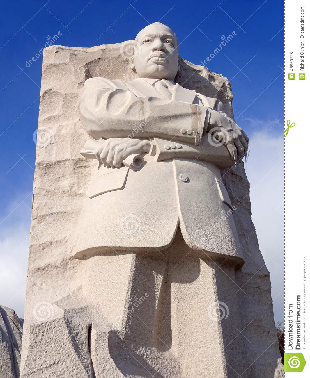 Martin Luther King Jr Statue In January Editorial Photo Image Of