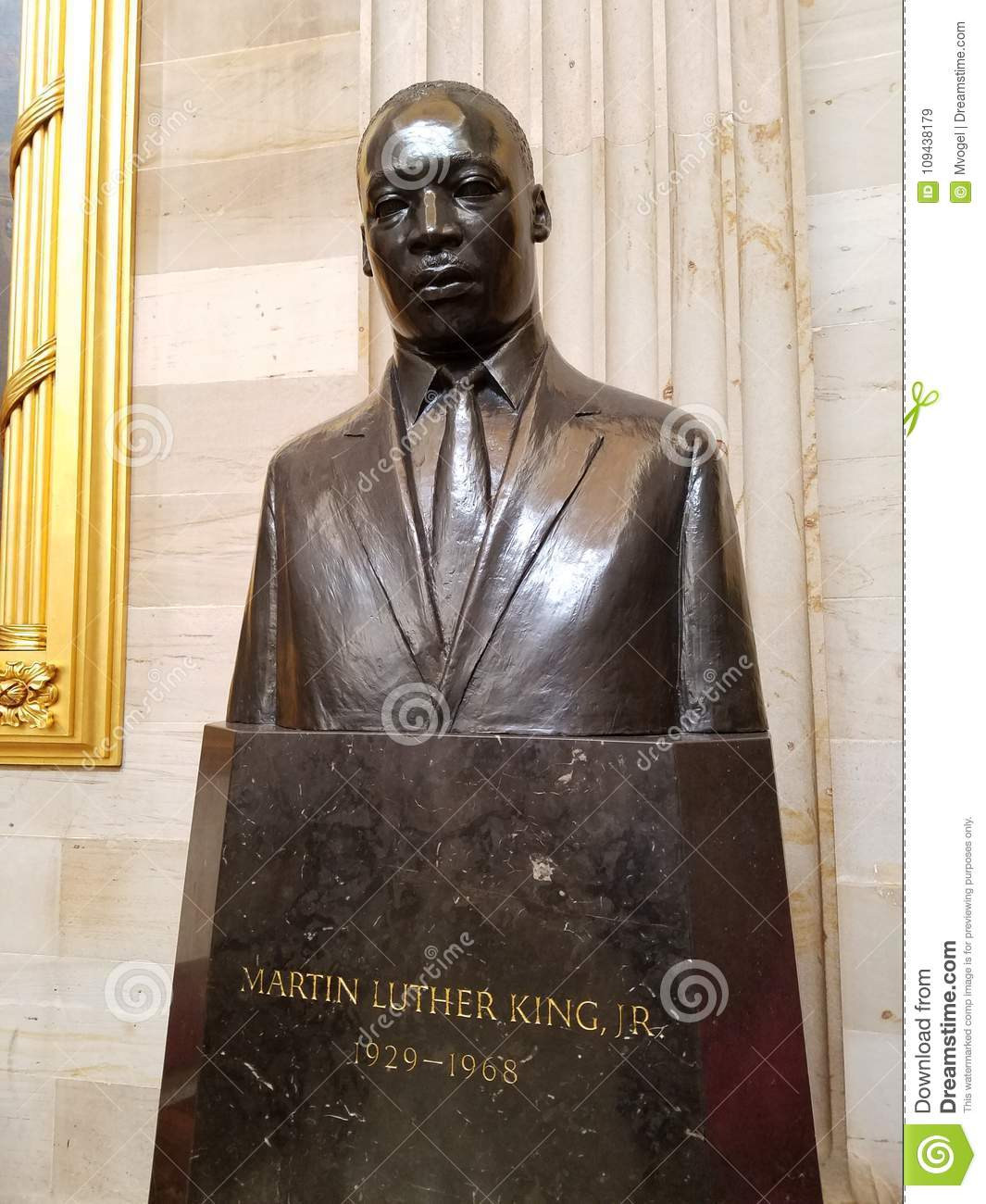 Martin Luther King Jr Statue In The Us Capital Rotunda Editorial