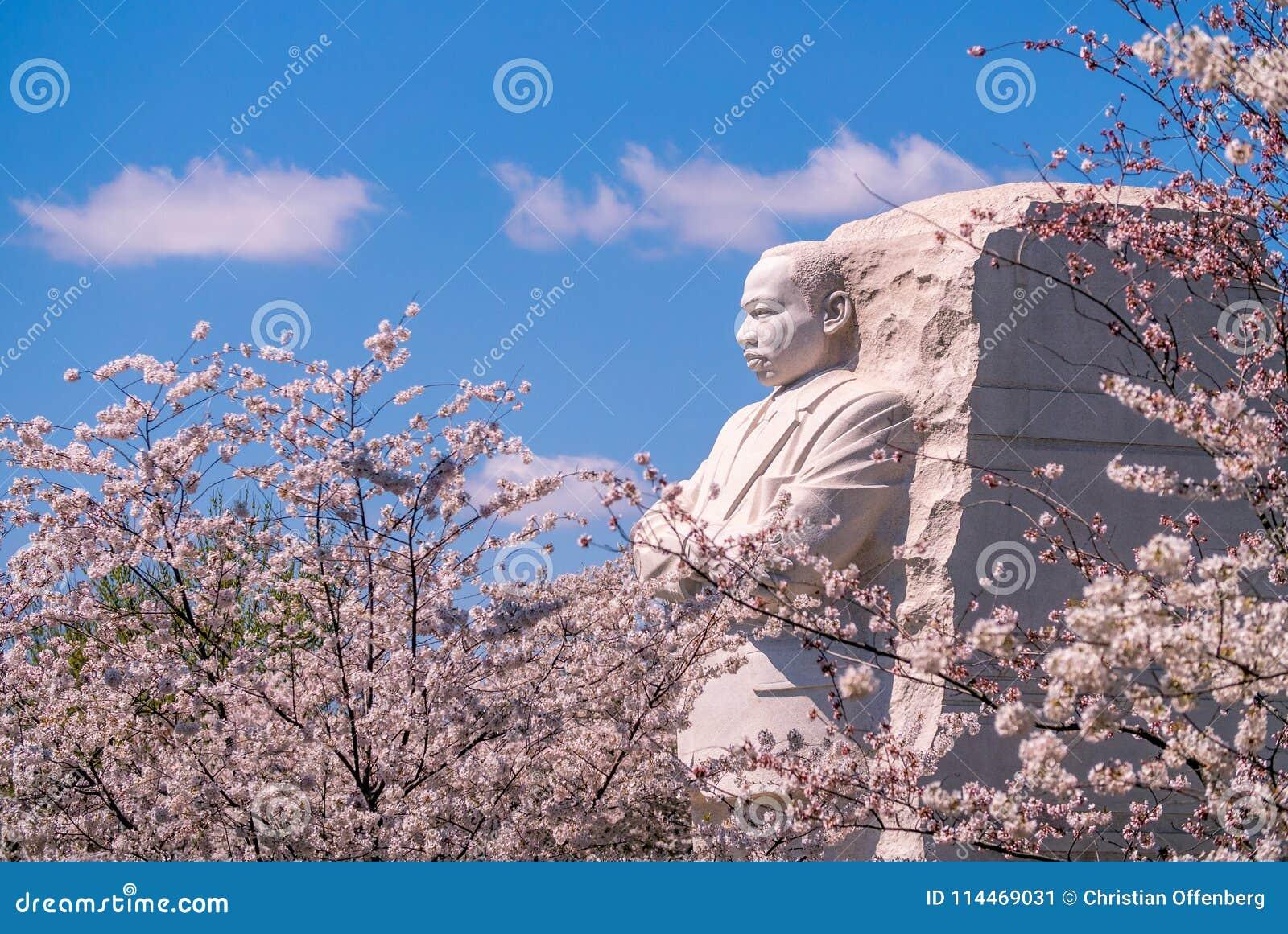 Martin Luther King Młodzieżowy pomnik w Waszyngtońskim d C , USA