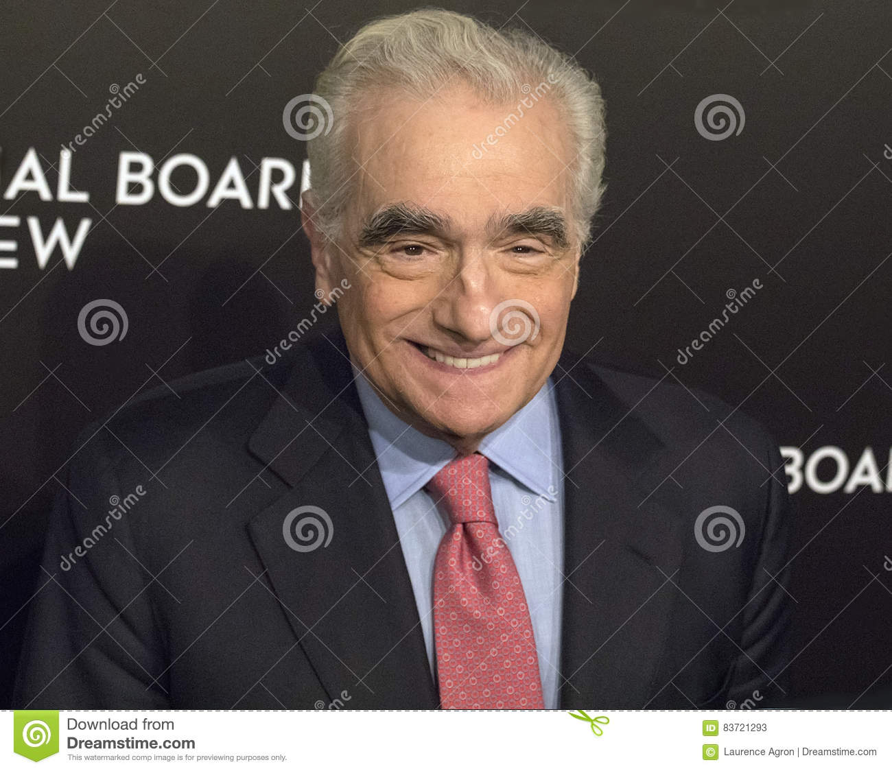 Martin Scorsese Appears At NBR Film Awards Gala Editorial Stock Photo