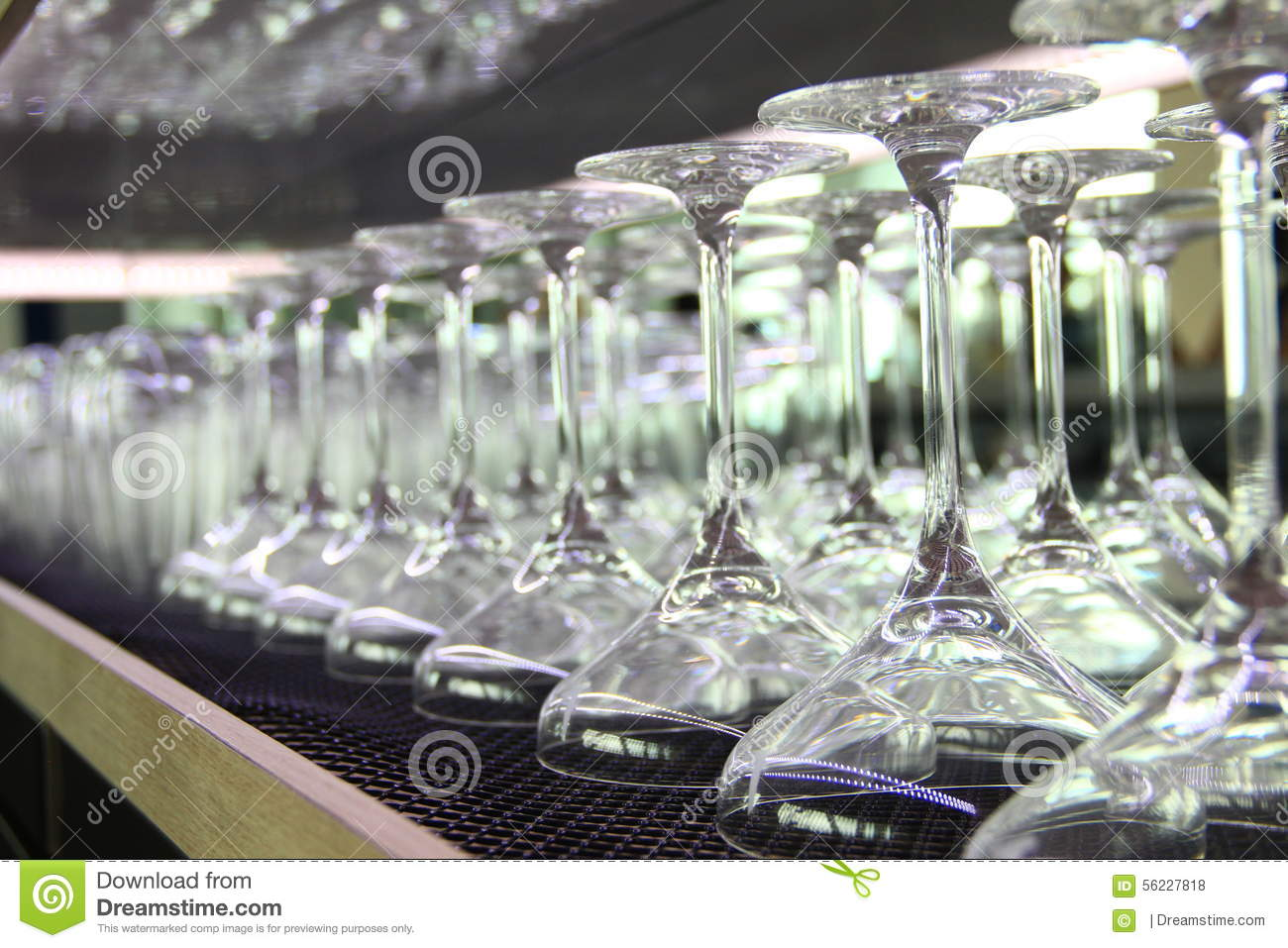 martini cocktail glasses lined up at the bar stock photo image of