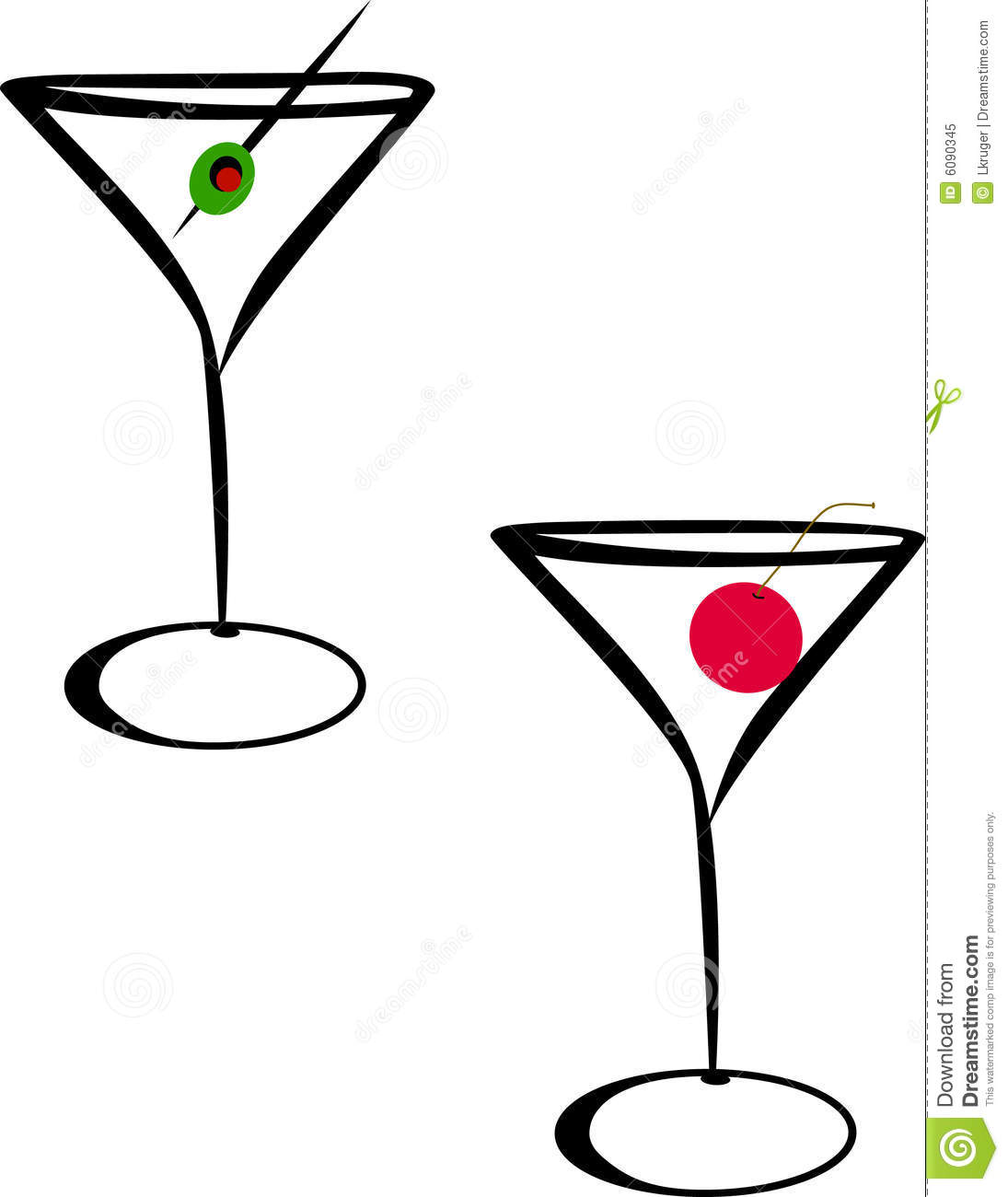 martini glasses stock illustration illustration of beverage 6090345 rh dreamstime com