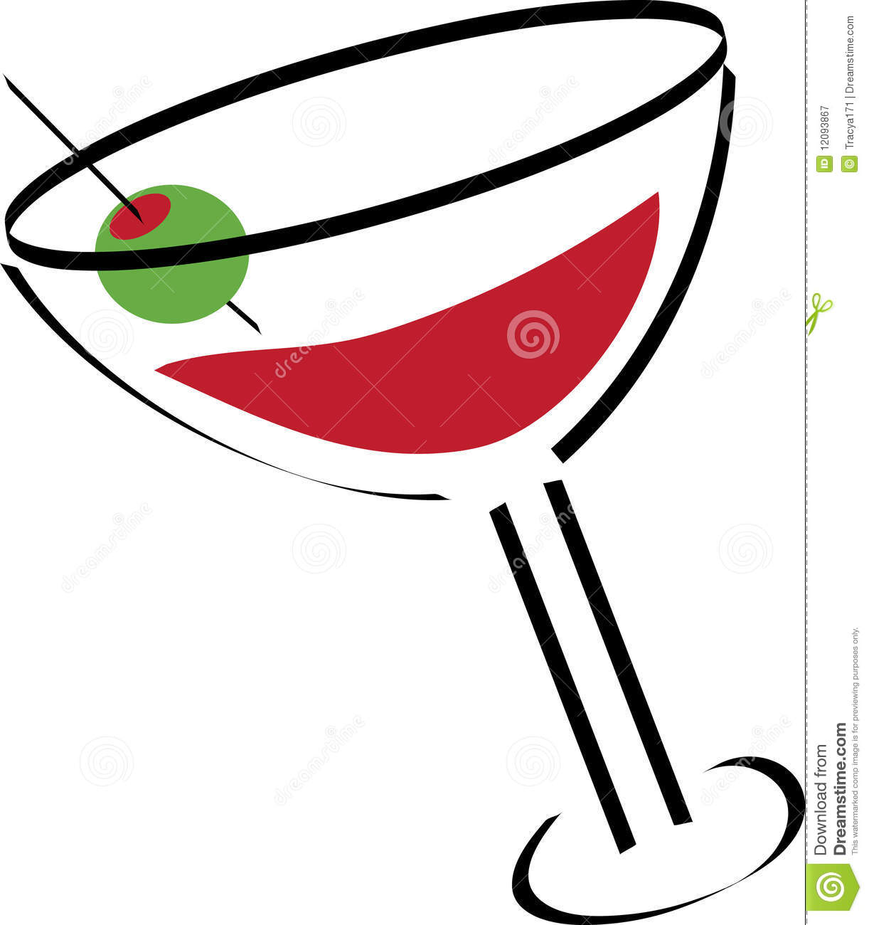 Martini Illustration Royalty Free Stock Photography - Image: 12093867