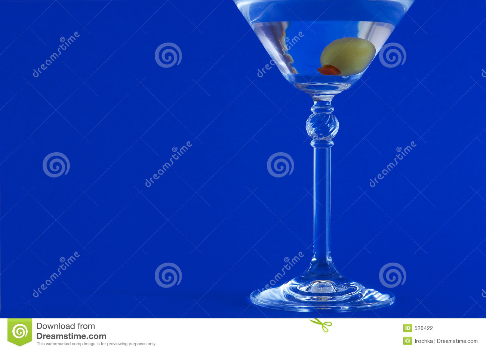 Martini no fundo azul