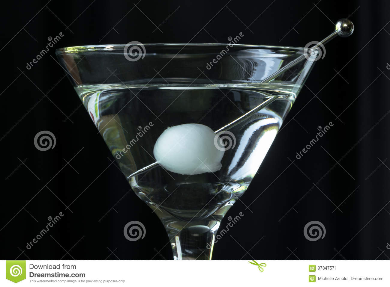 martini stock image image of onion pearl isolated 97847571