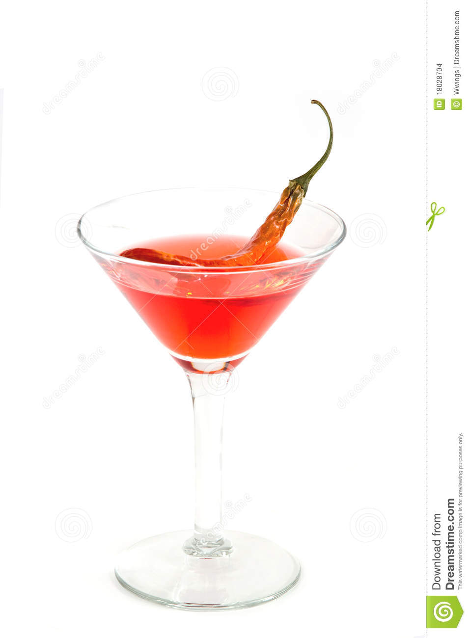 spa red chile martini chocolate chili martini martini with a red chili ...