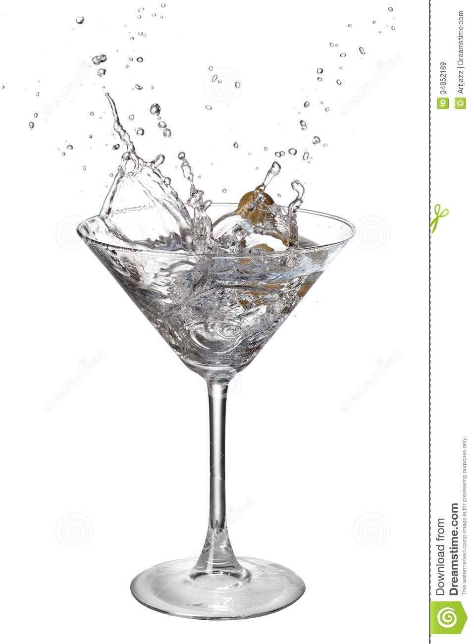 Martini Splash — Stock Photo © sarra22 #6341295