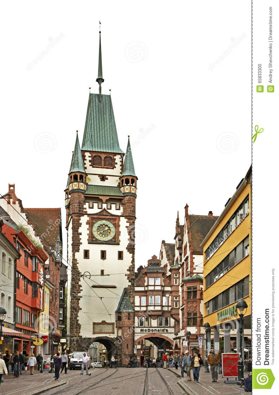 martinstor gate of martin in freiburg im breisgau germany editorial image image 65833300. Black Bedroom Furniture Sets. Home Design Ideas