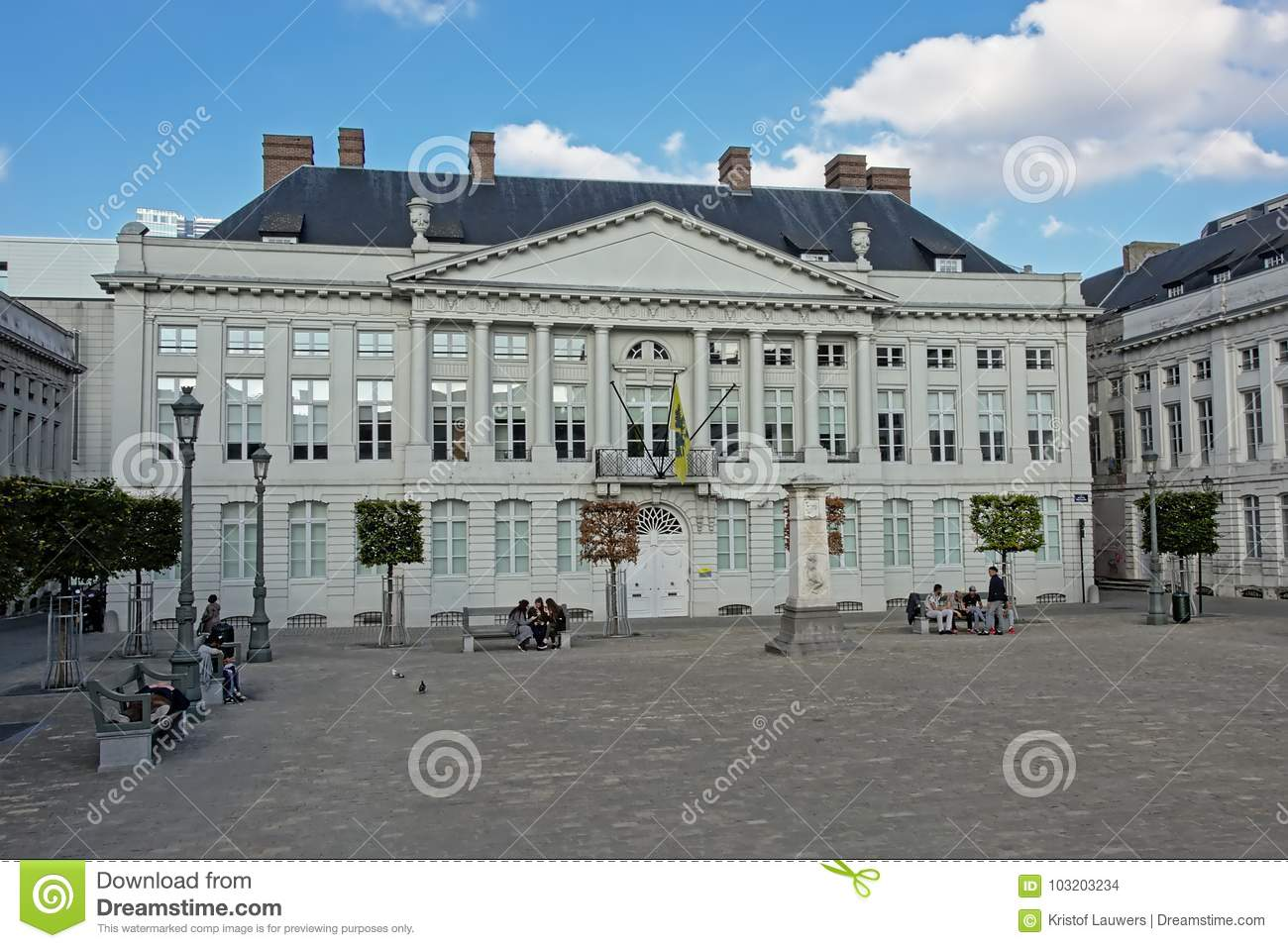 Martyr`s square in brussels, capital of Belgium
