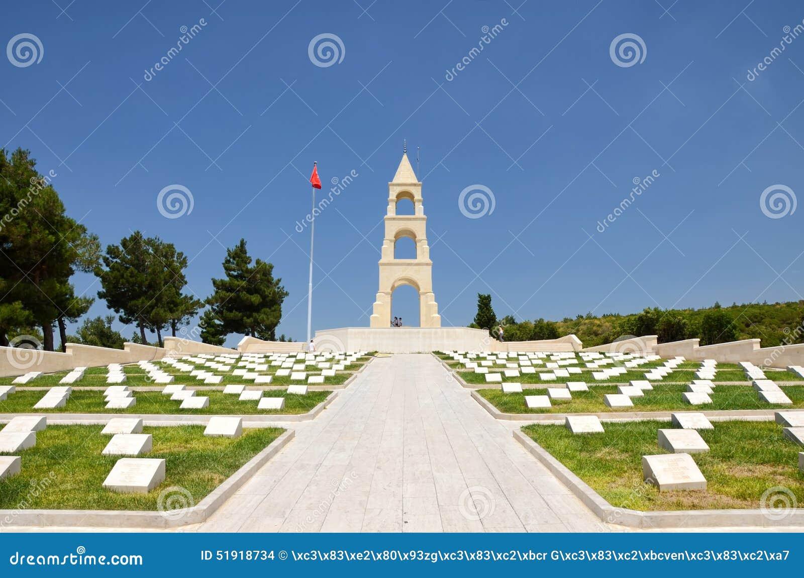 Martyr som är minnes- för det 57th infanteriregementet, Canakkale, Turkiet