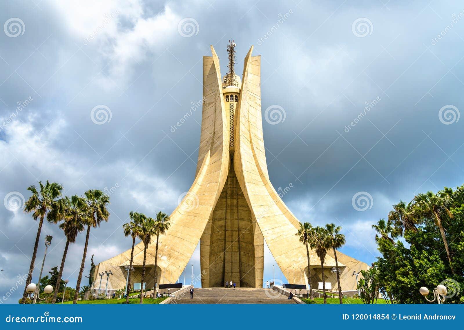 Martyr som var minnes- för hjältar, dödade under det algeriska kriget av självständighet _