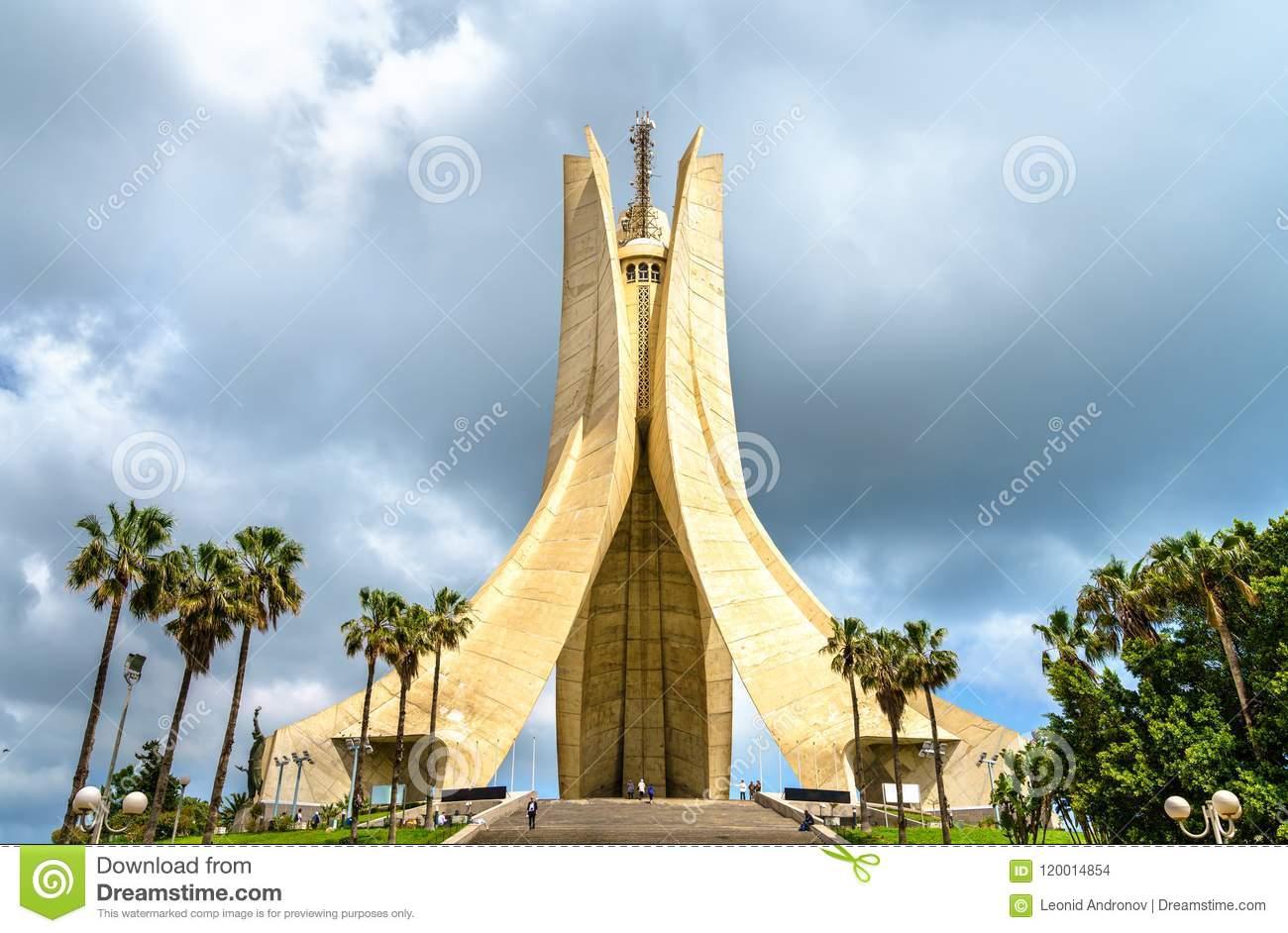 Martyrs Memorial for Heroes killed during the Algerian war of independence. Algiers