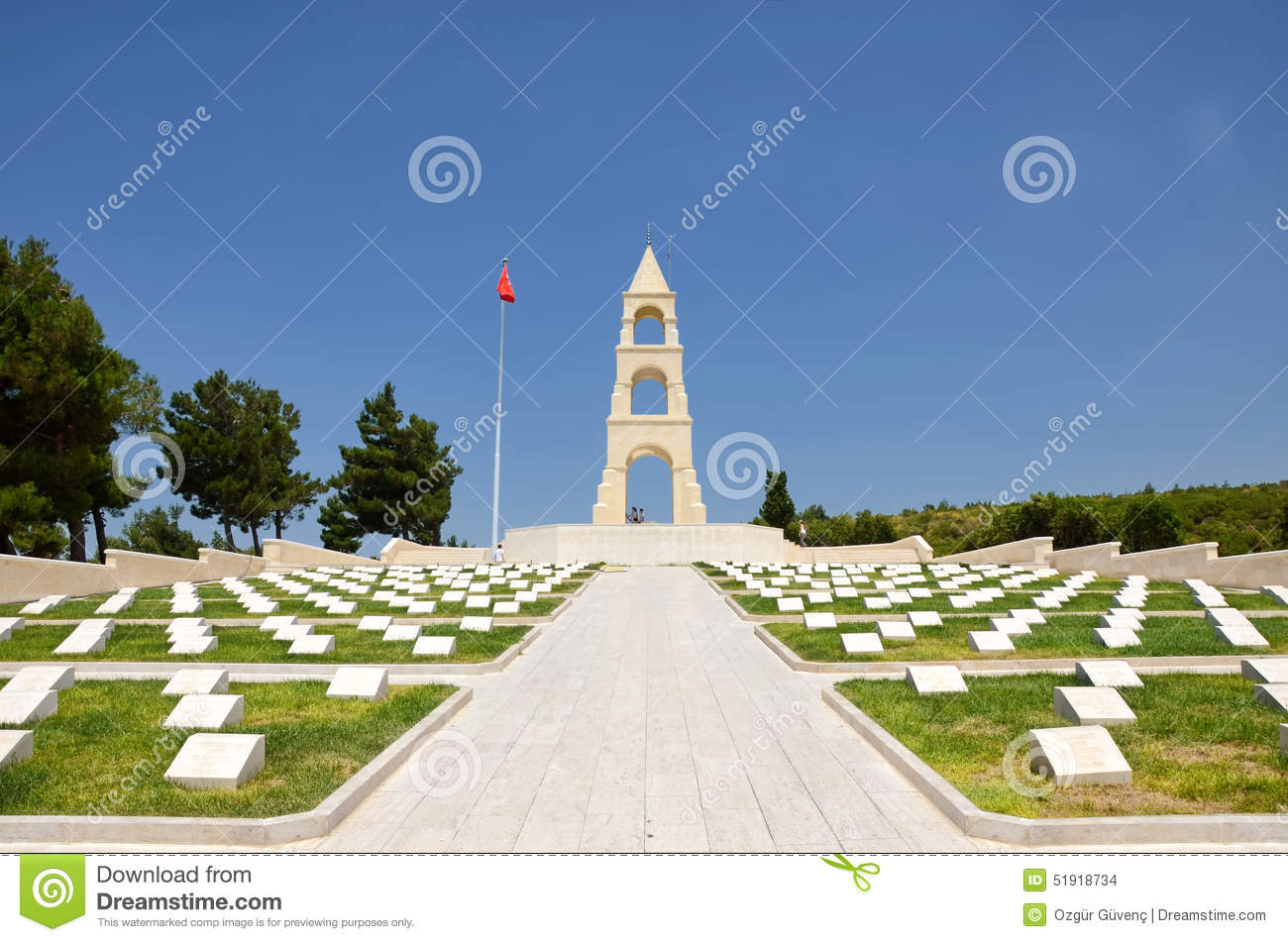 Martyrs  Memorial For 57th Infantry Regiment, Canakkale, Turkey