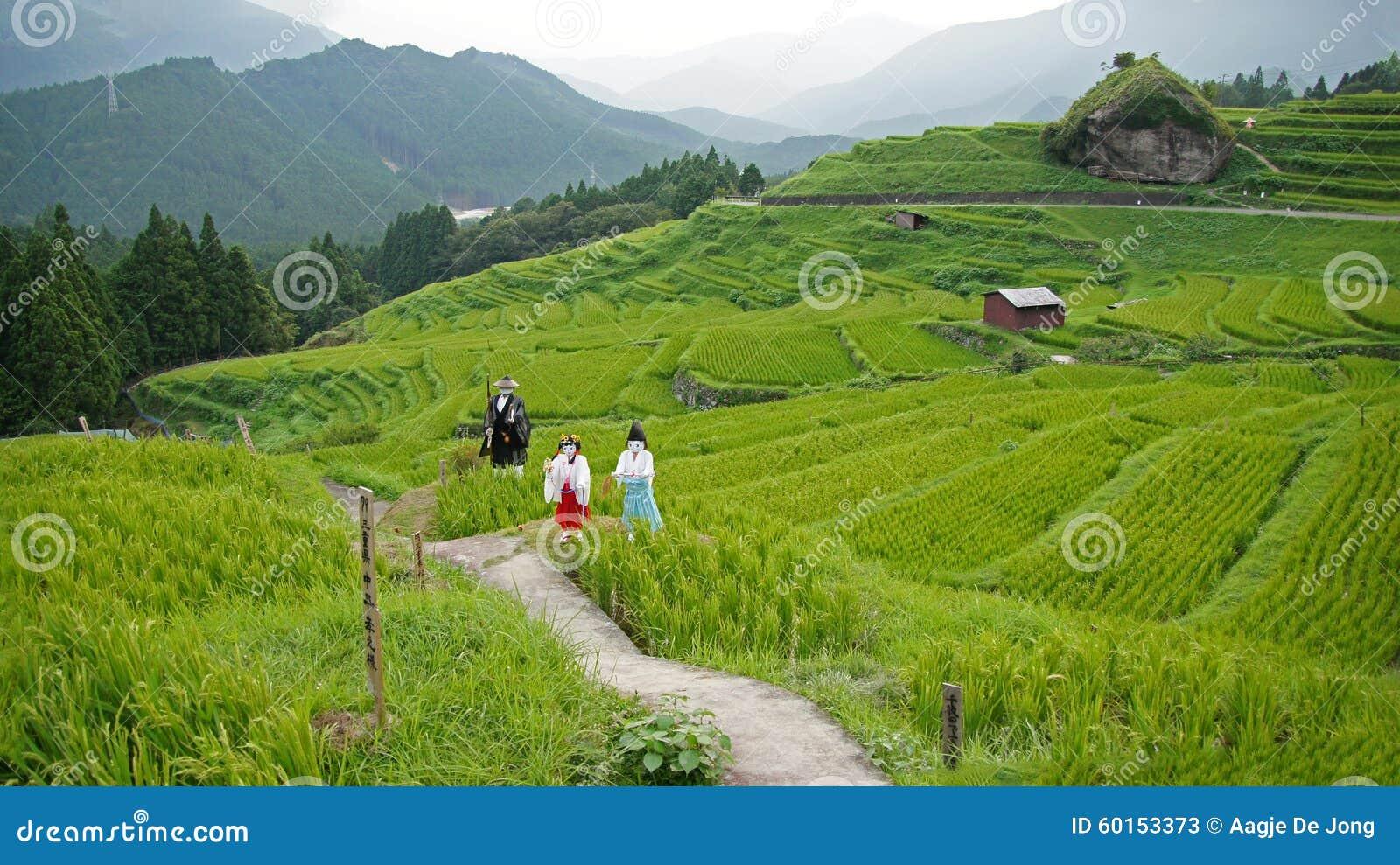 Maruyama Senmaida rice terraces in Japan Stock Photos