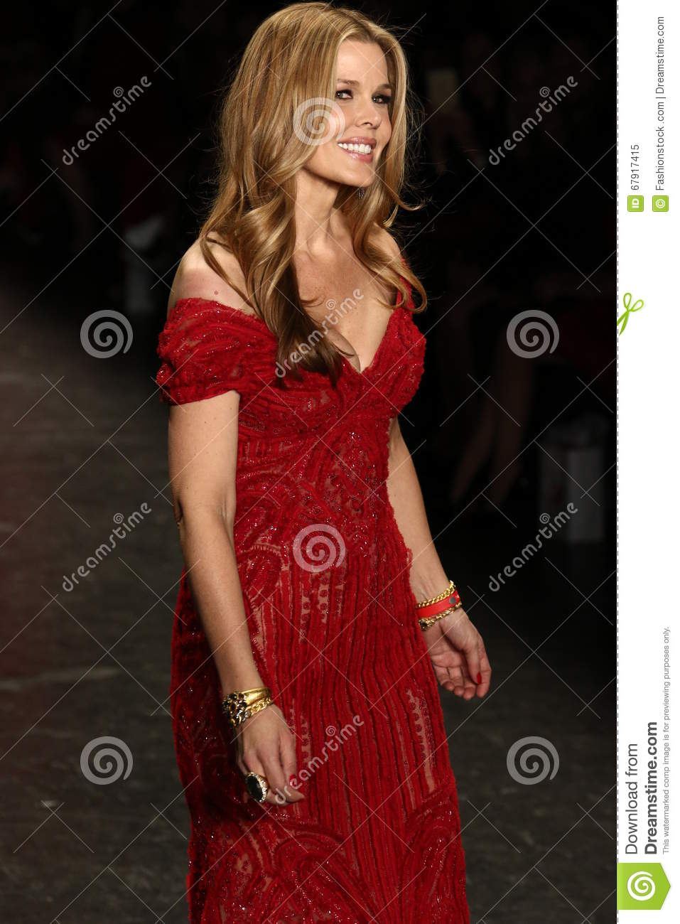 Mary Alice Stephenson walks the runway at The American Heart Association s Go Red For Women Red Dress Collection 2016