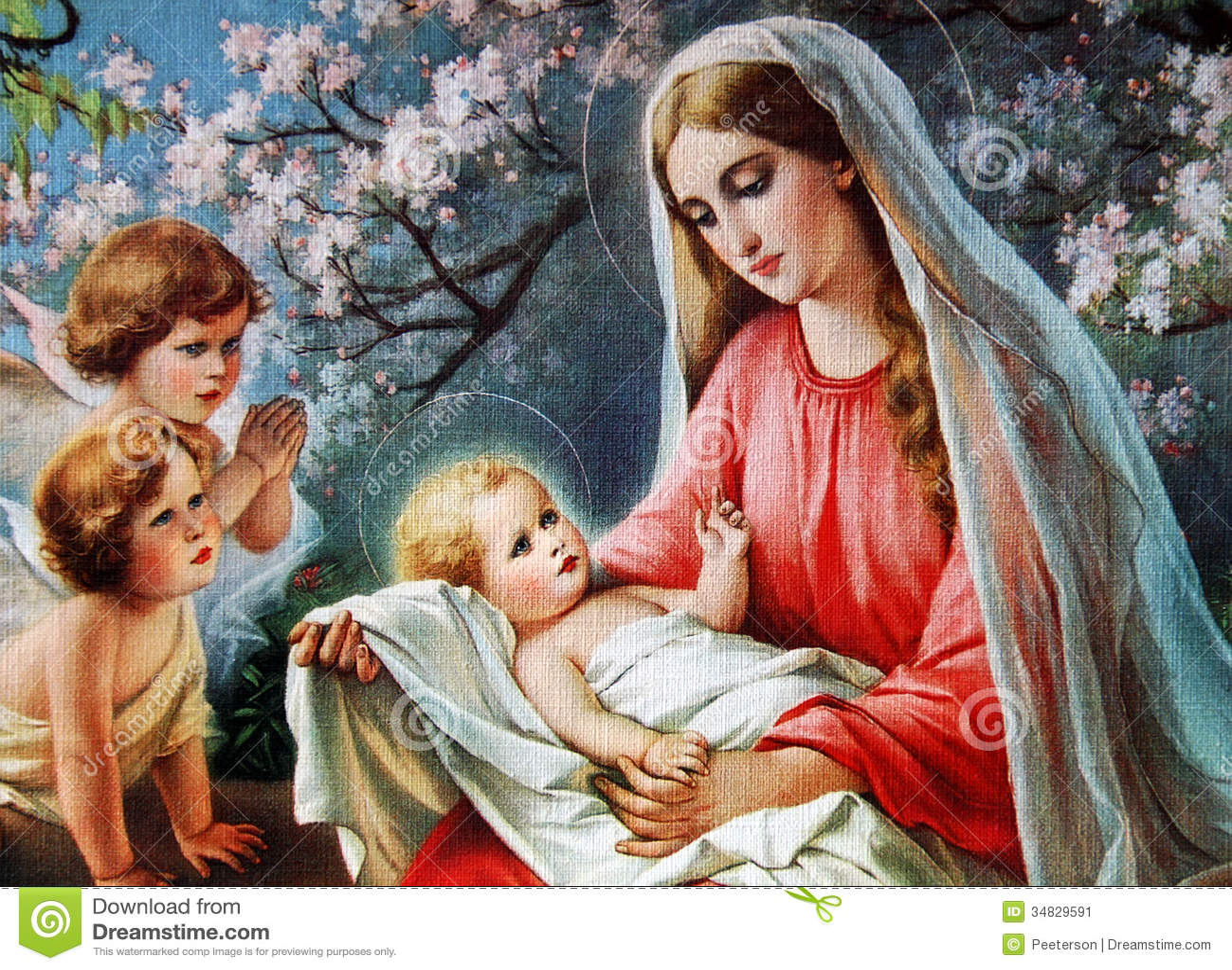 Mary bénie avec l enfant Jésus