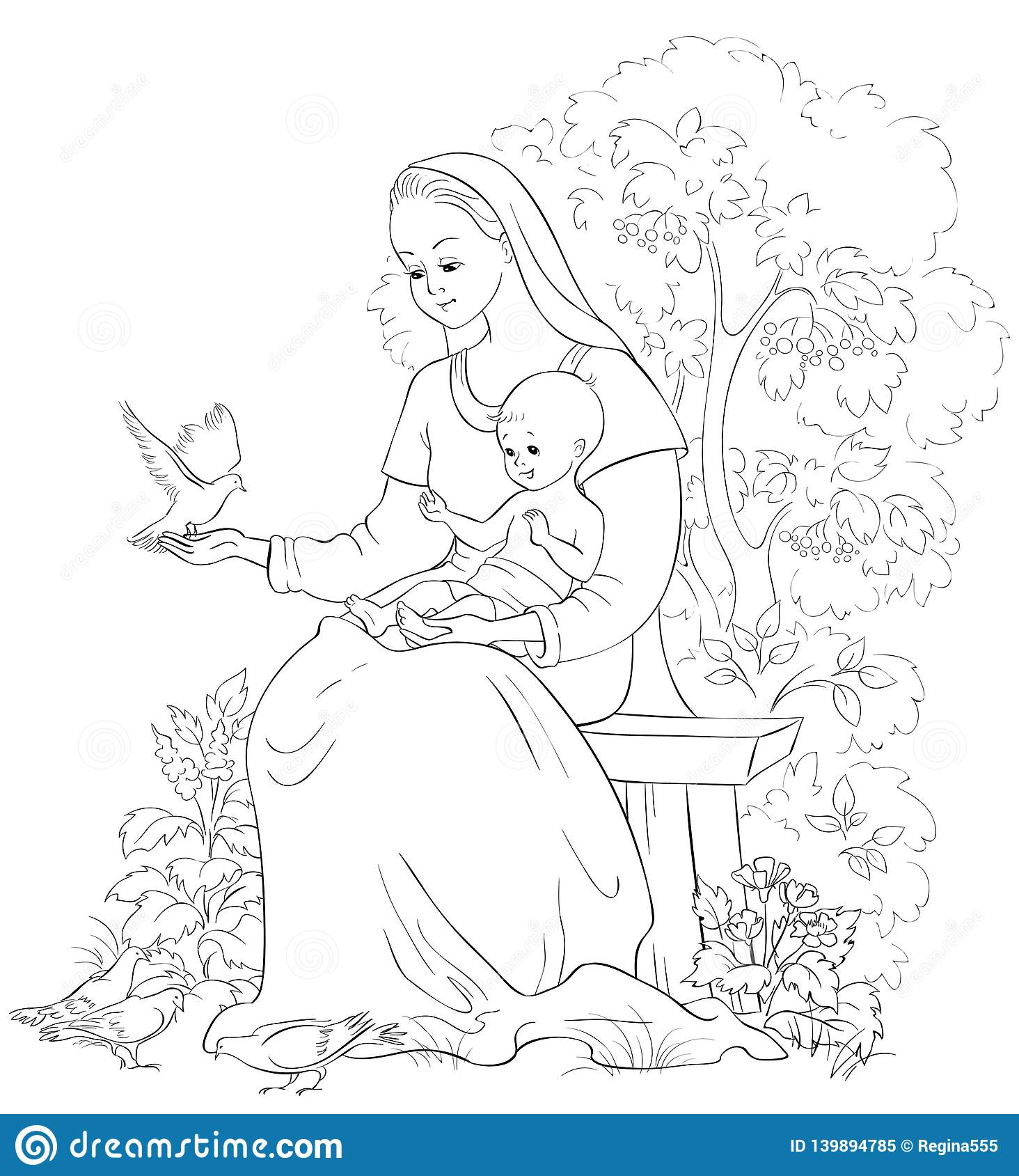 Jesus is Risen Coloring Page - Whats in the Bible | 1689x1464