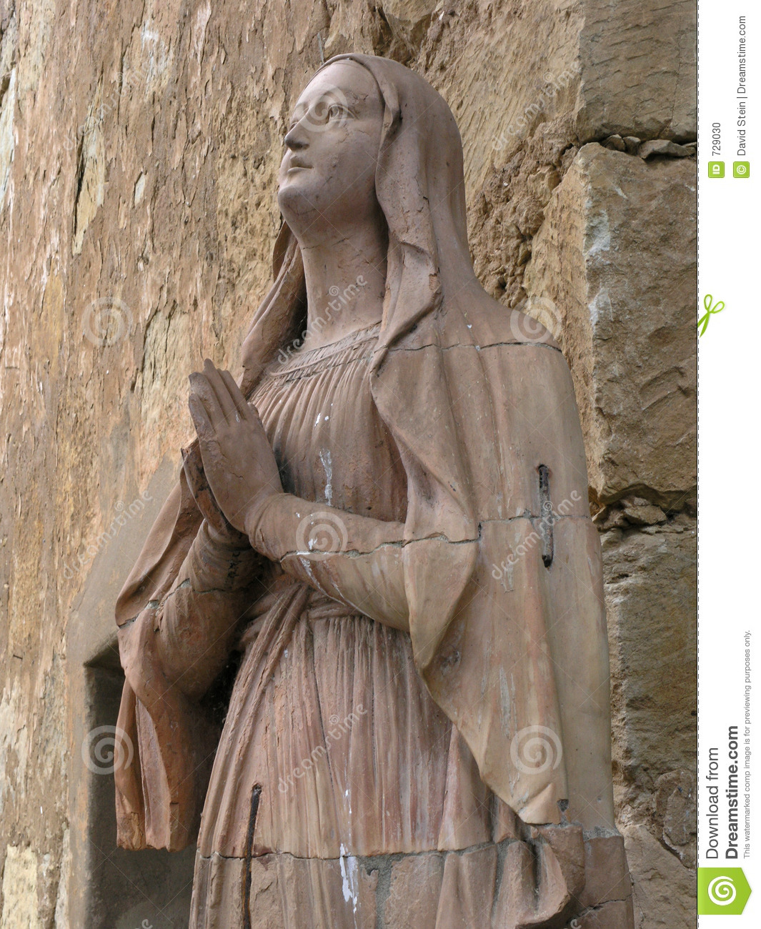 Carved Stone Statue : Mary carved stone statue stock photo image