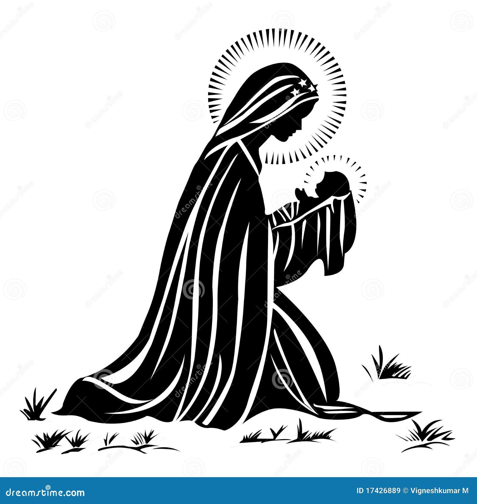 Mary e bebê Jesus