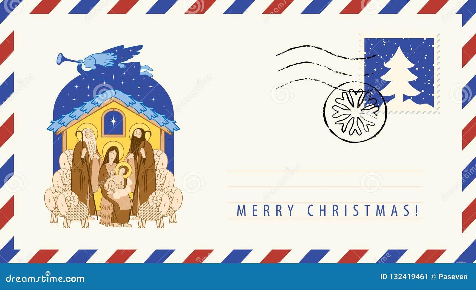 Mary e Jesus Adoração dos magi Envelope