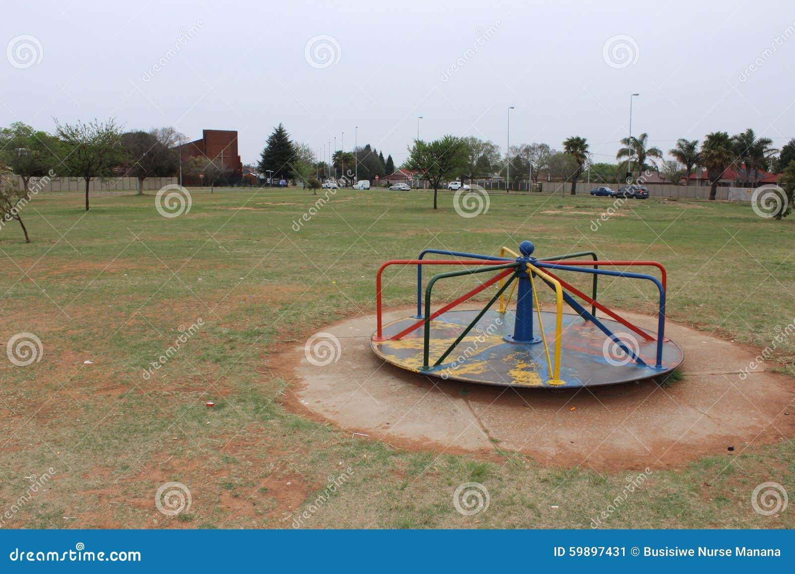 Mary Go Round At A Park Stock Photo