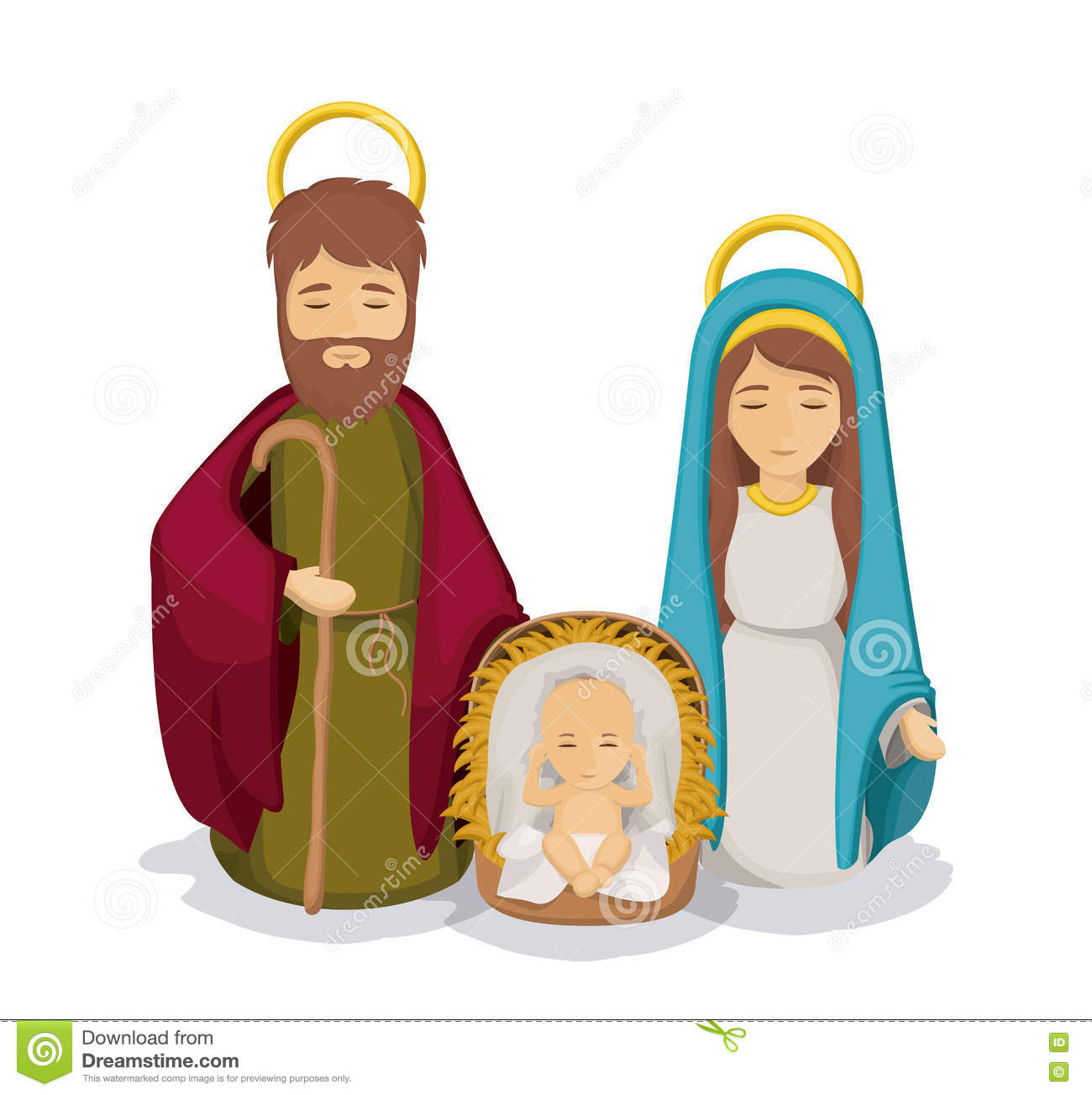 Mary And Joseph With Baby Jesus Design Stock Vector ...
