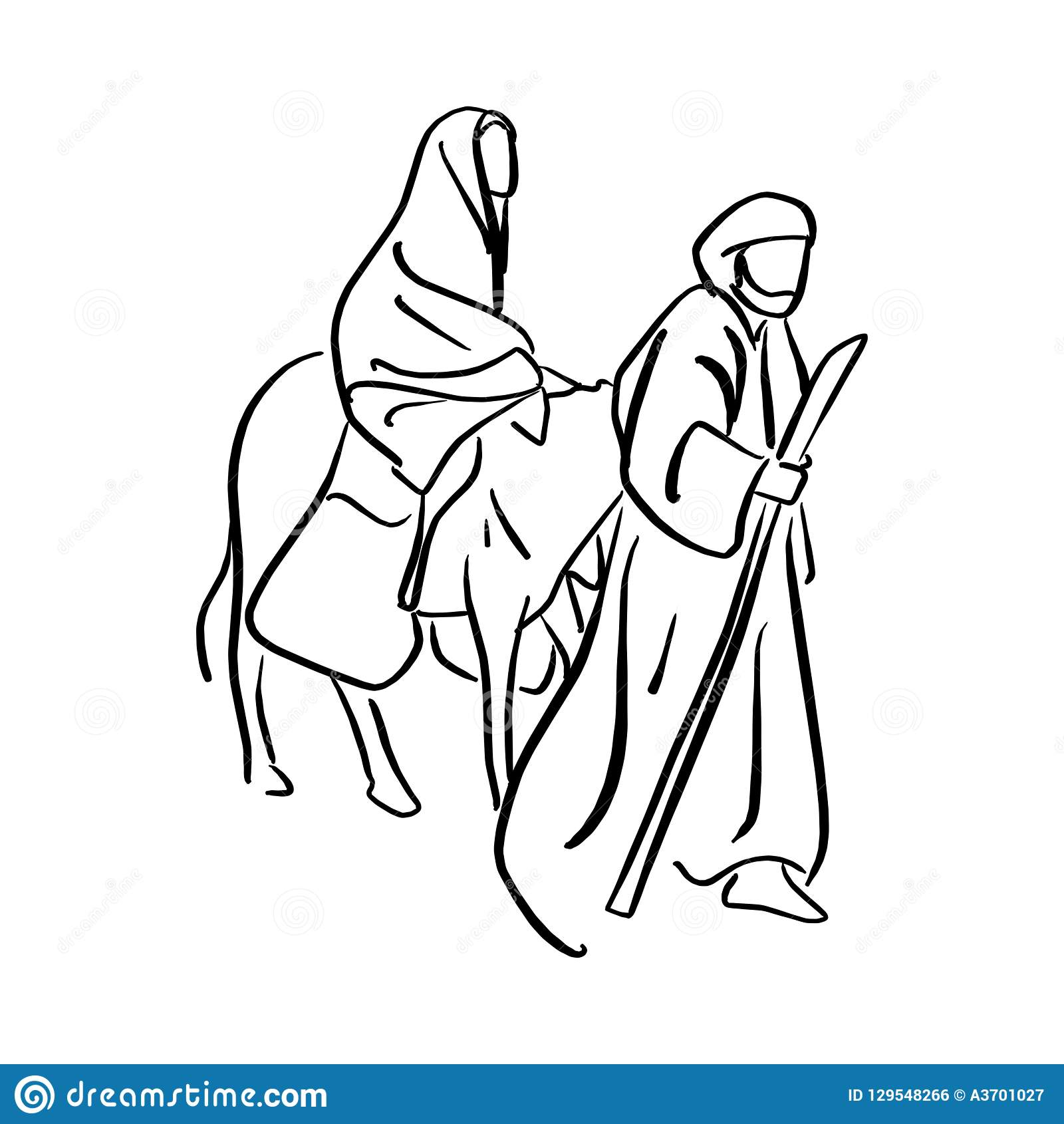 Mary And Joseph Silhouette Royalty Free Cliparts, Vectors, And Stock  Illustration. Image 63119072.