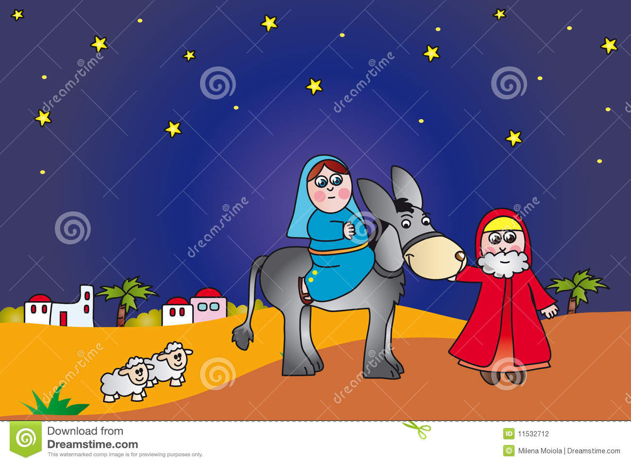 Coloring sheet mary and joseph bethlehem - Mary And Joseph To Bethlehem