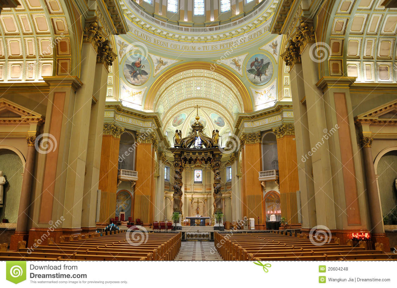Mary Queen Of The World Cathedral Montreal Royalty Free