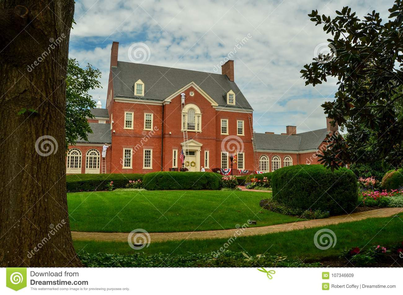 The Maryland Governor`s Mansion and Grounds
