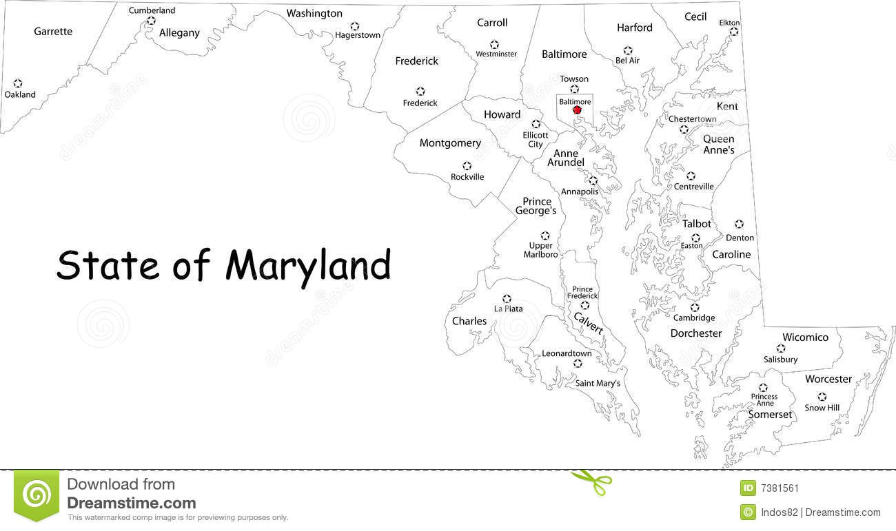 Marylandmapjpg - Maryland map and cities