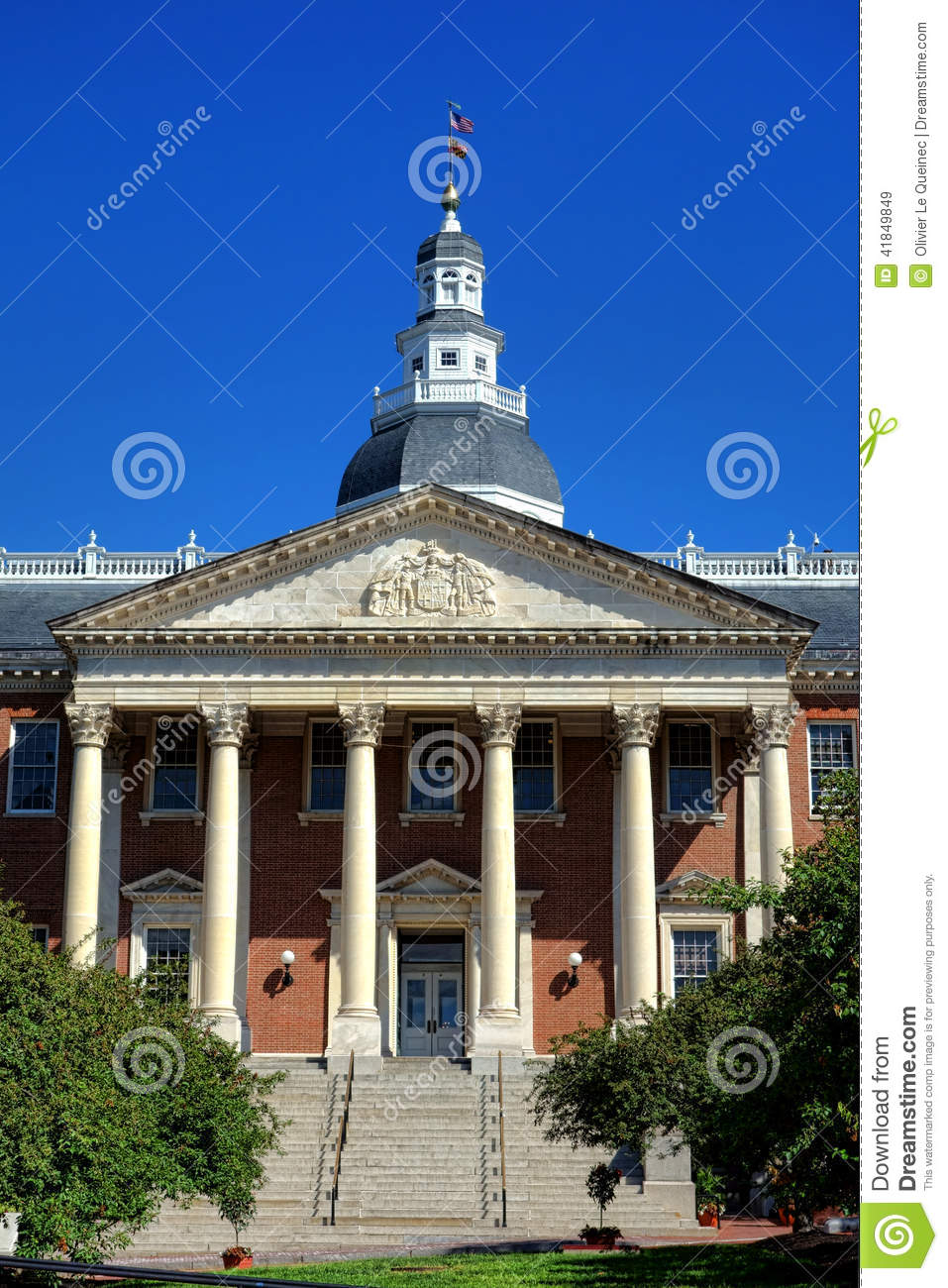 Maryland state house capitol building in annapolis stock for Builders in md