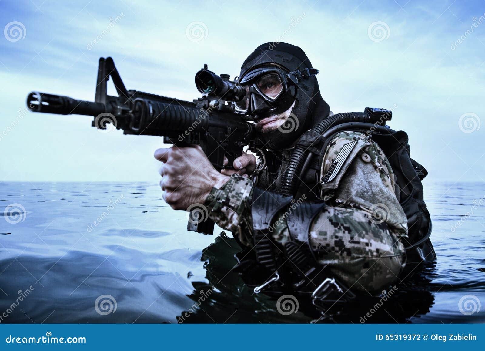Marynarki wojennej foki płetwonurek