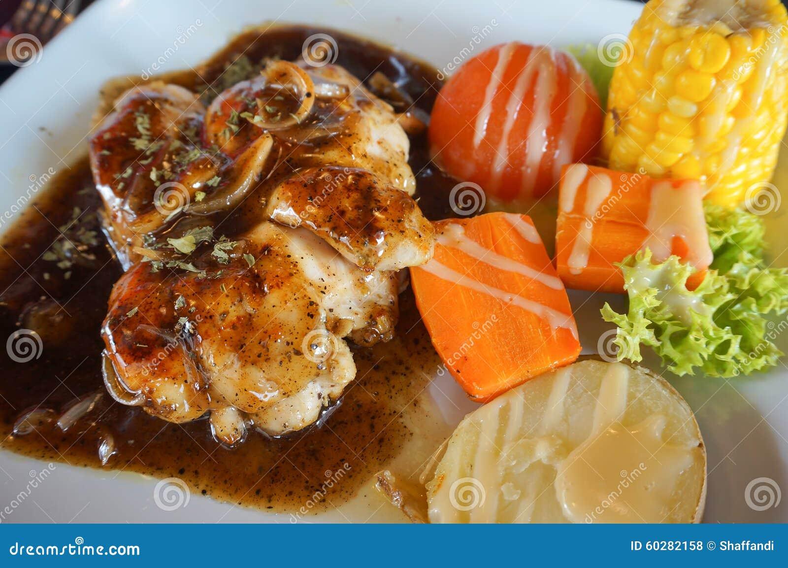 Marynowane piec na grillu zdrowe kurczak piersi gotować na lata BBQ