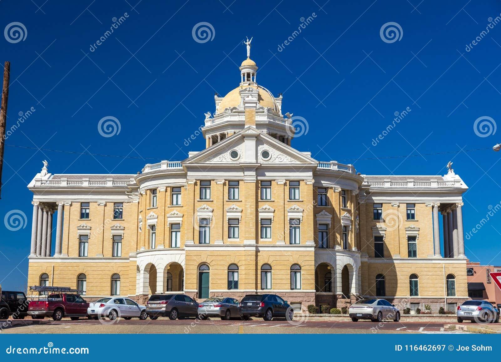 MARZEC 6, 2018, Marshall, - MARSHALL TEKSAS, Marshall Teksas Harrison okręgu administracyjnego gmachów sądu - Gmach sądu, stany