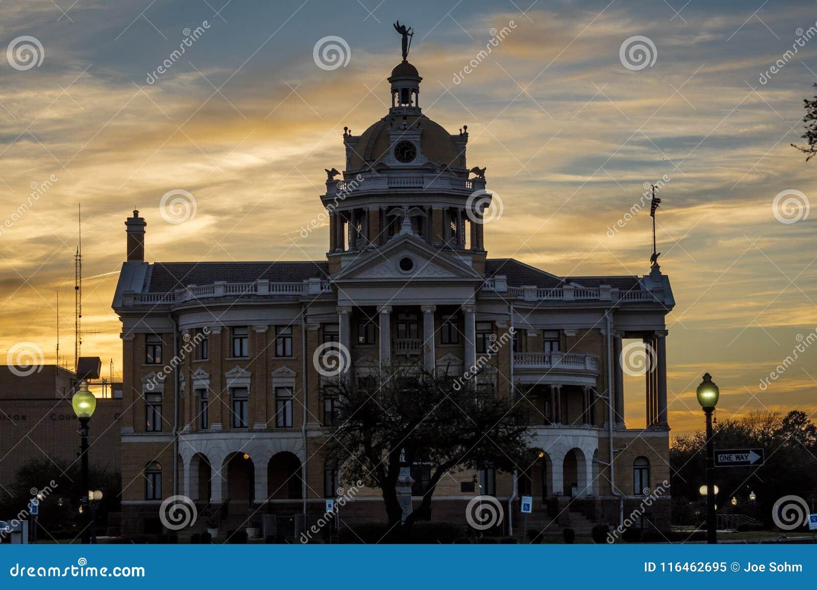 MARZEC 6, 2018, Marshall, - MARSHALL TEKSAS, Marshall Teksas Harrison okręgu administracyjnego gmachów sądu - USA, punkt zwrotny