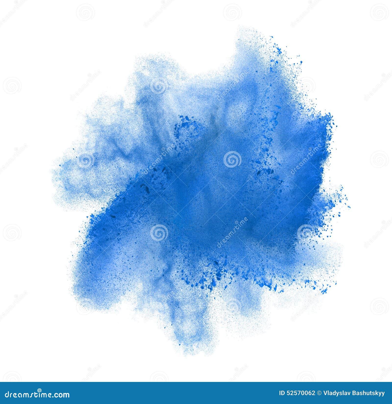 Marznie ruch błękita prochowy wybuchać, odizolowywającego