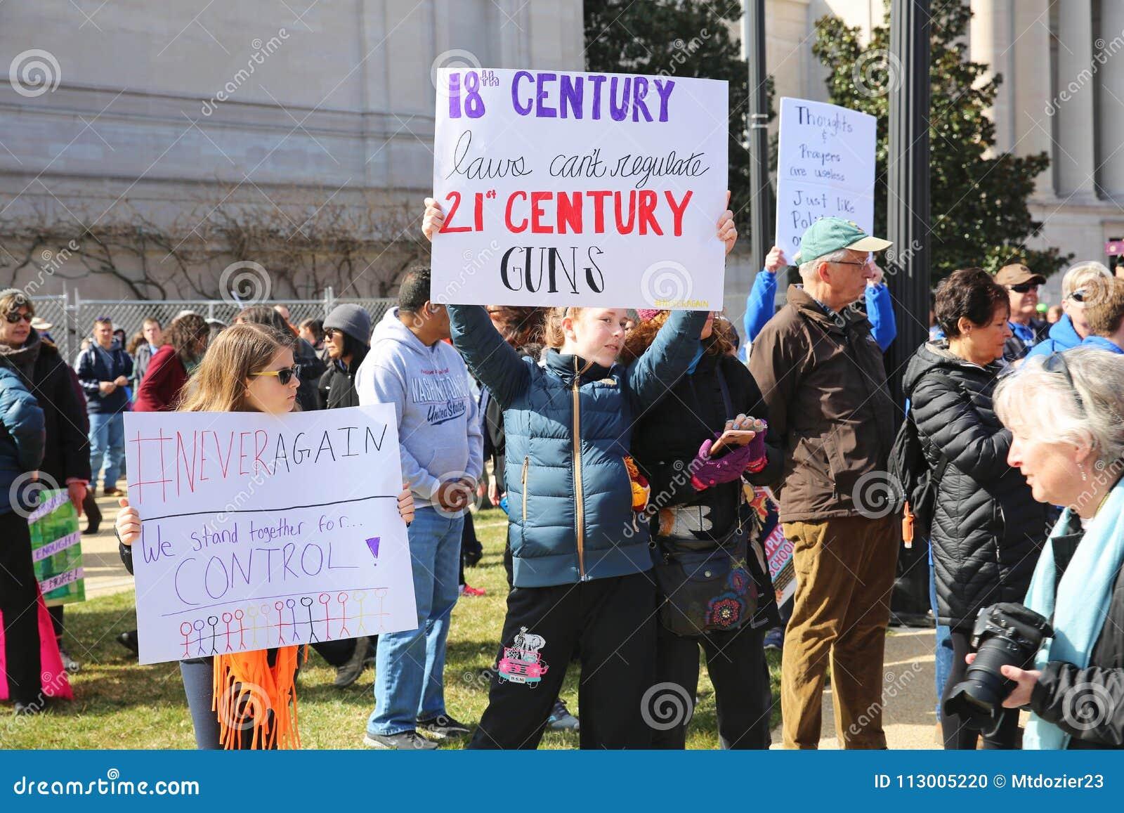 Marzo para nuestra protesta 12, Washington, D de las vidas C