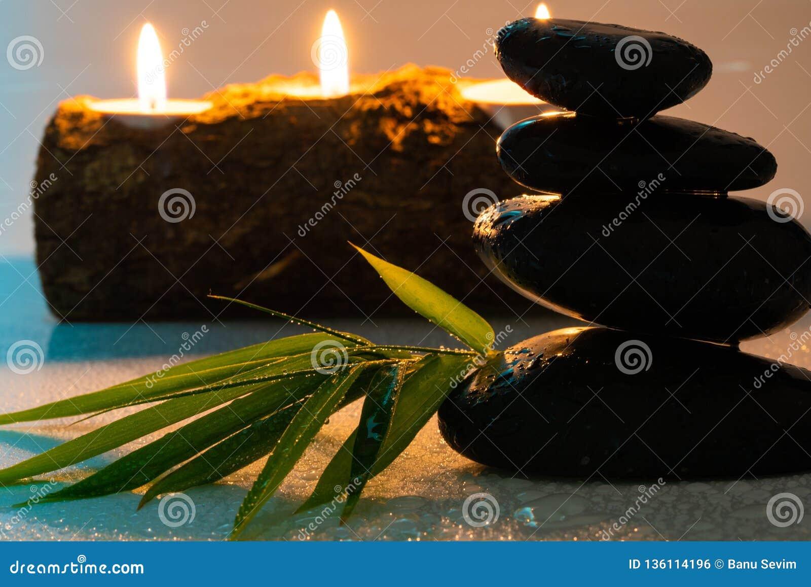 Masażu czerni i wyposażenia kamienie