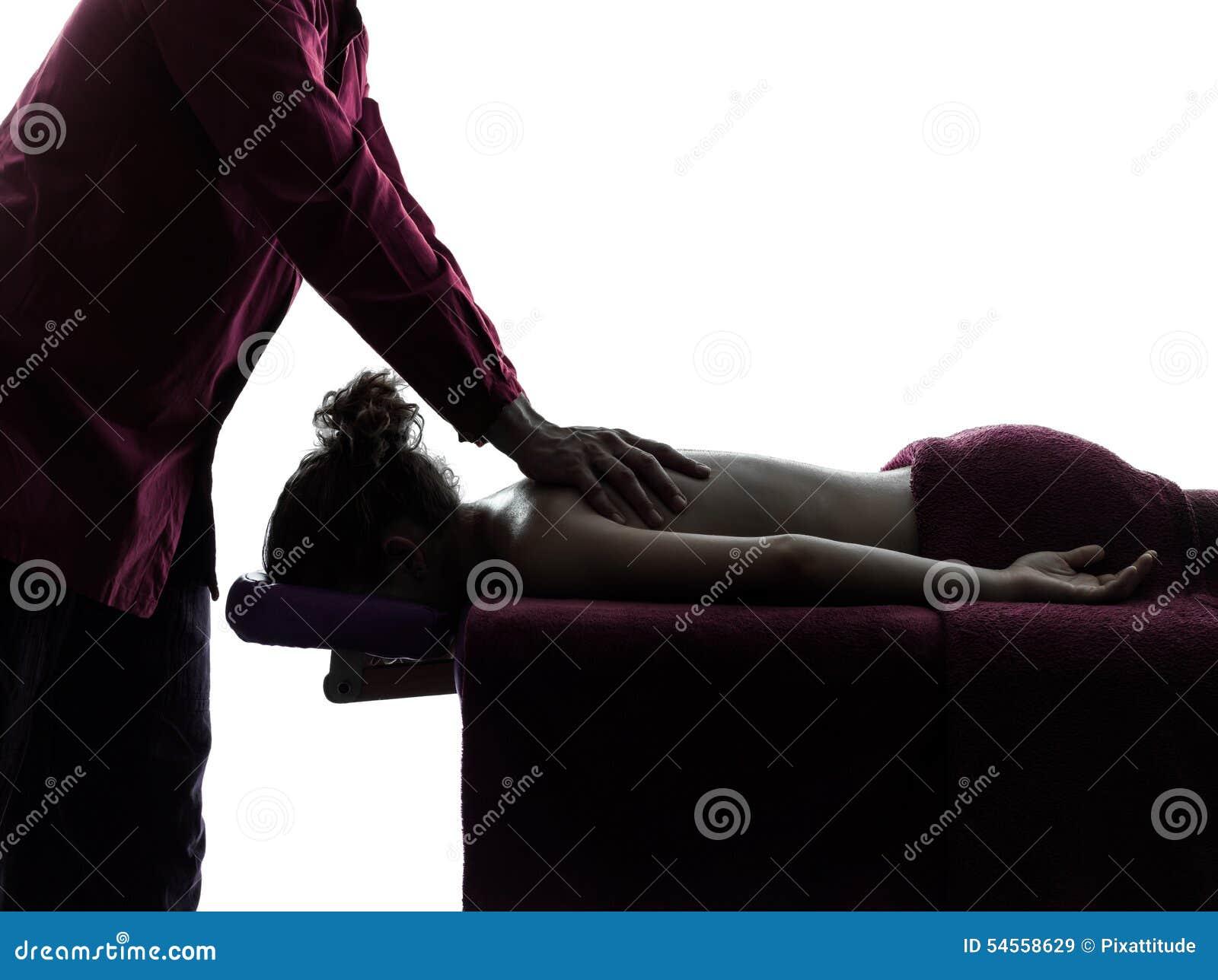 Masażu terapeuta sylwetka