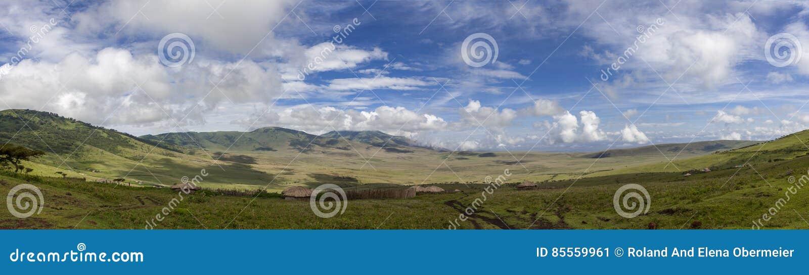 Masai-Dorf im Serengeti