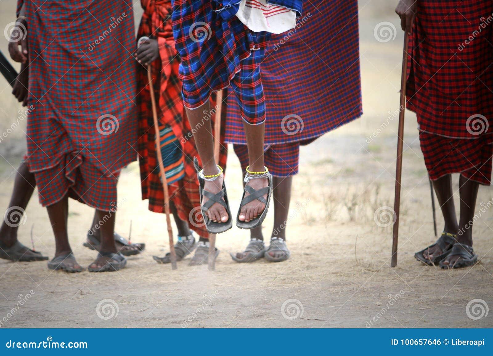Masai hoppar
