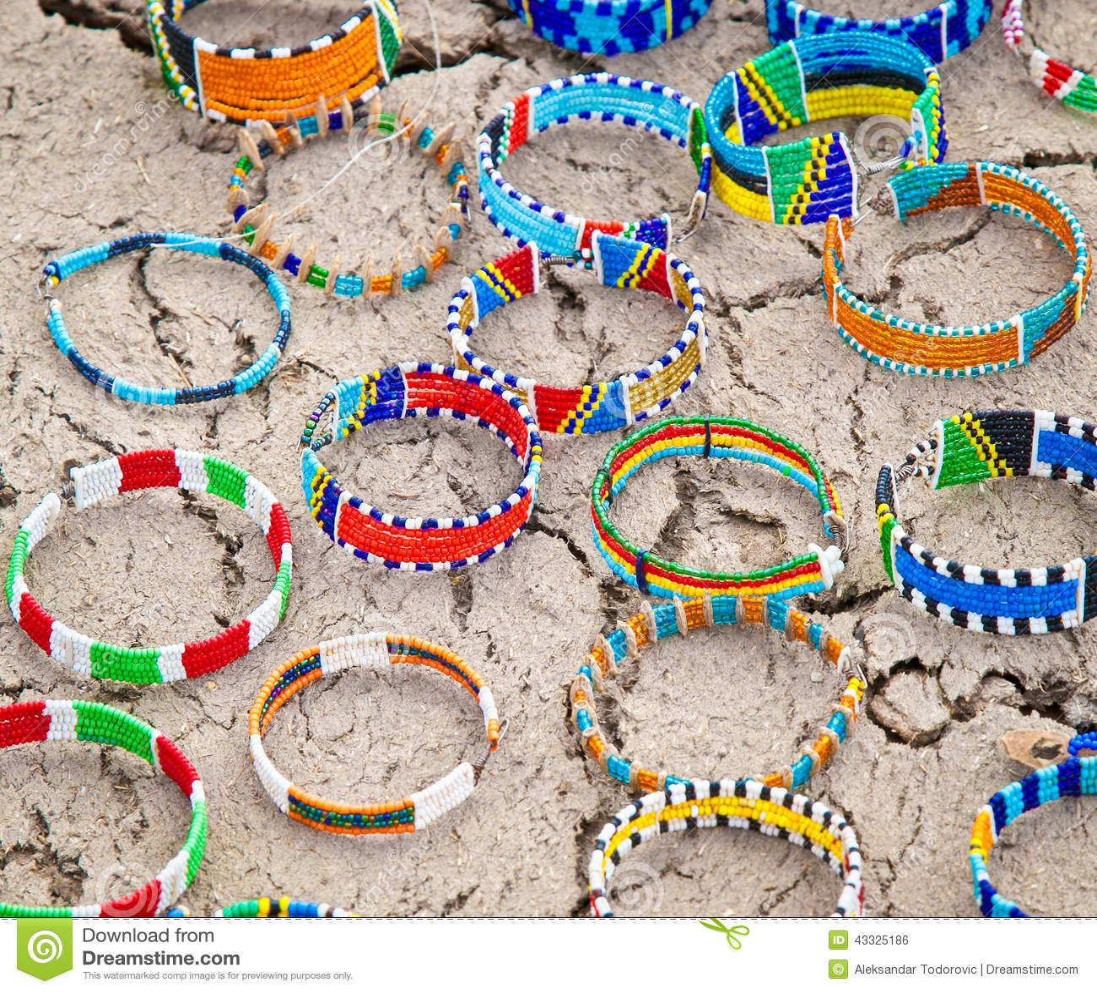 Masai traditional jewelry in village market, Tanzania.