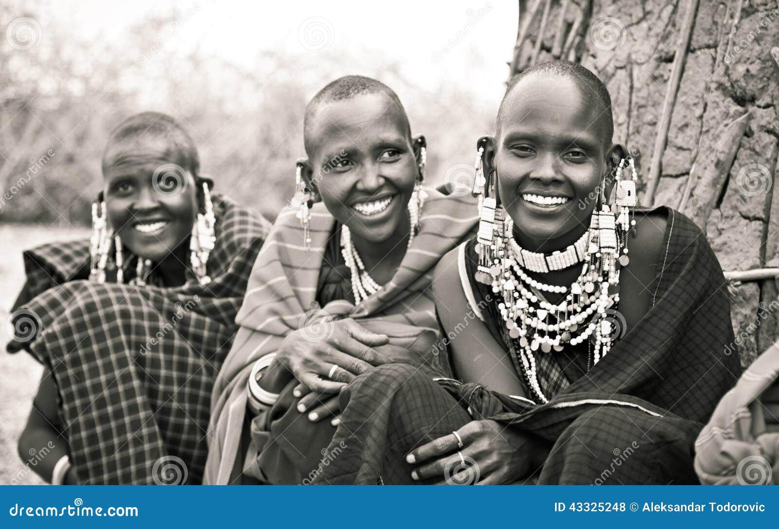 Masai with traditional ornaments, Tanzania.