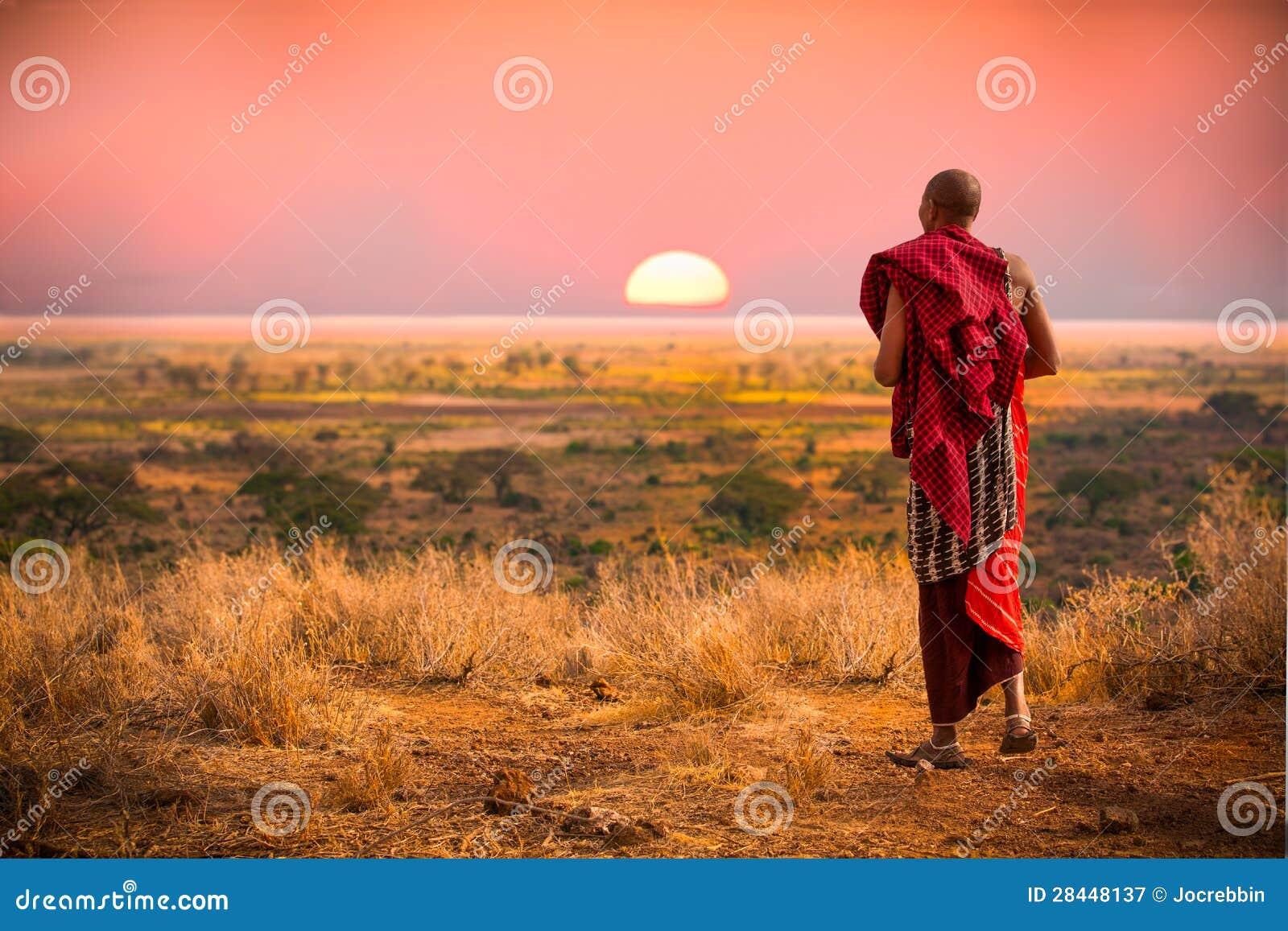 Masaimann von Tanzania