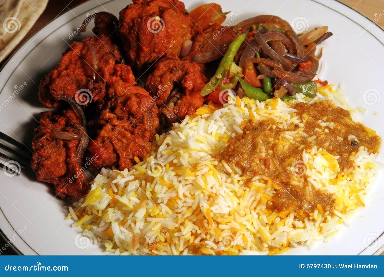 Masala d Indien de nourriture de poulet de biryani