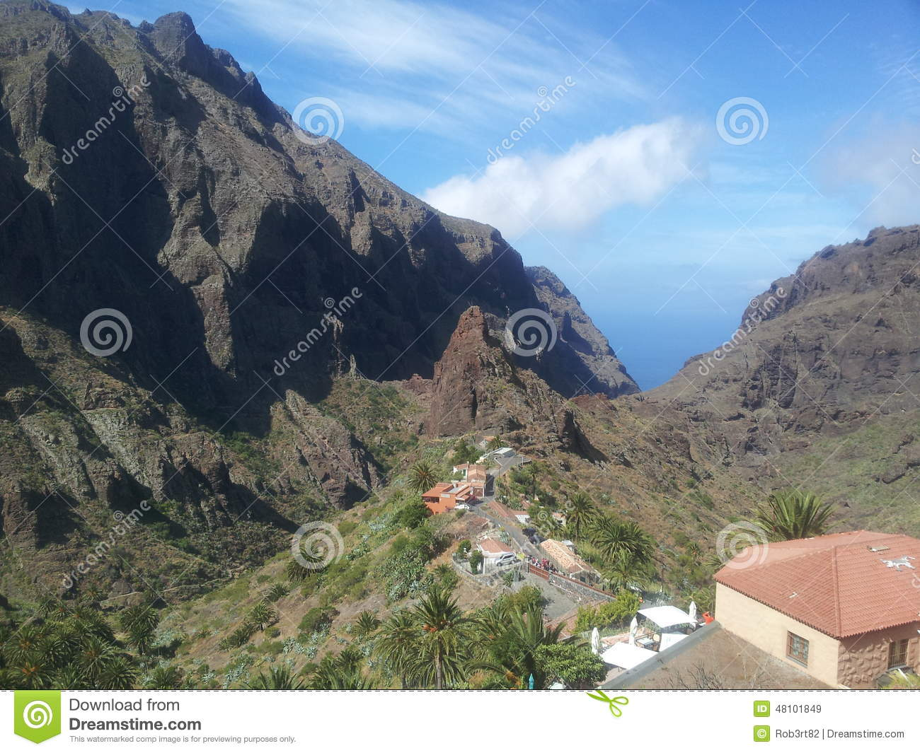 Masca Valley Tenerife Stock Photo - Image: 48101849
