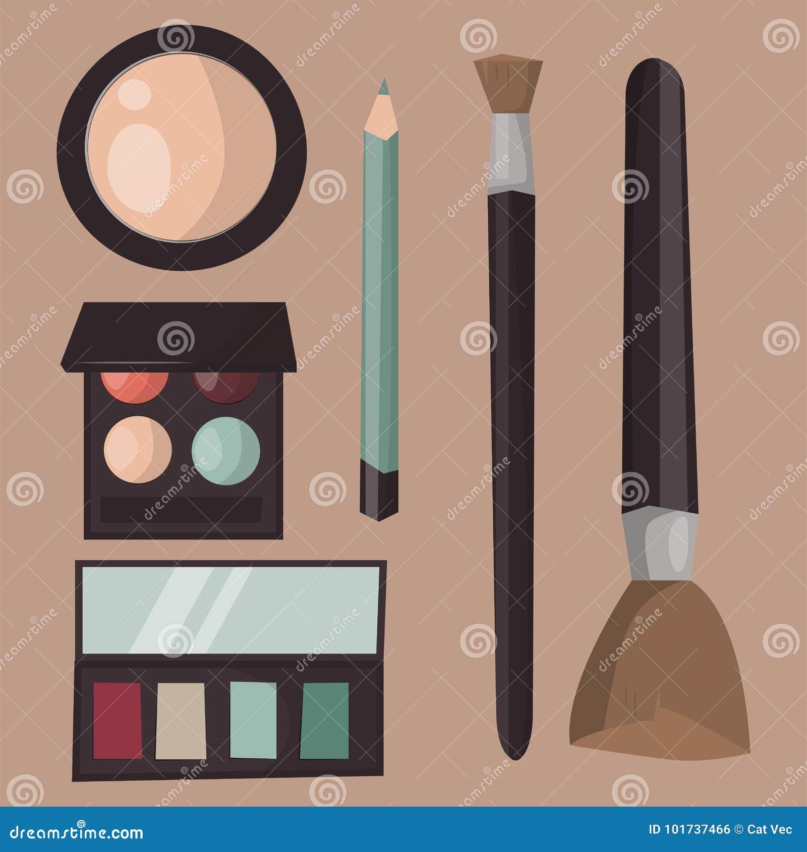 Mascara αρώματος εικονιδίων Makeup η χτένα βουρτσών προσοχής αντιμετώπισε το θηλυκό βοηθητικό διάνυσμα γοητείας σκιάς ματιών