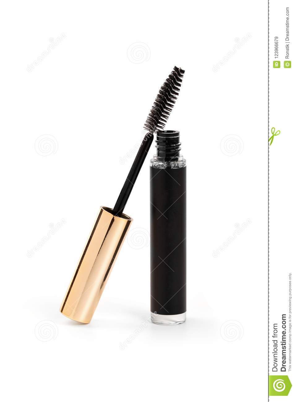 acec8eda79f Mascara tube and wand isolated on white background. More similar stock  images
